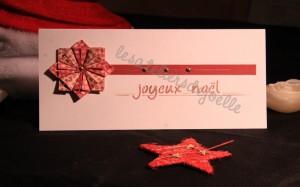 carte avec pliage en  origami
